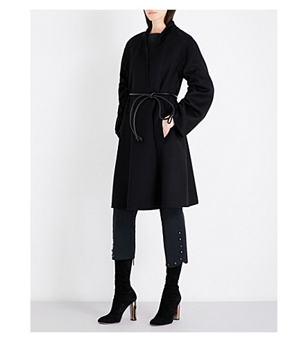 SPORTMAX Pablo cashmere tie-waist coat (Black