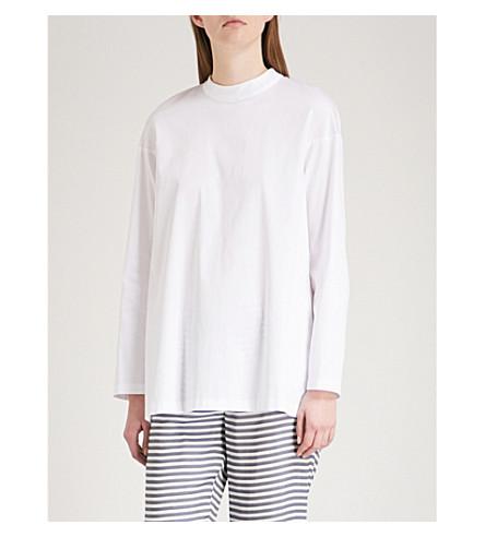 S MAX MARA Paco cotton-poplin shirt (White