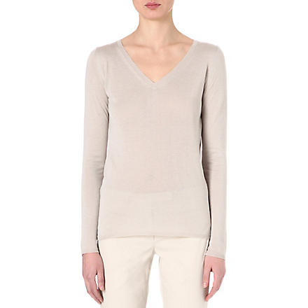 S MAX MARA Silk jumper (Turtledove
