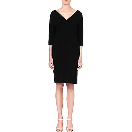 MAX MARA STUDIO Palmira v-neck dress (Black