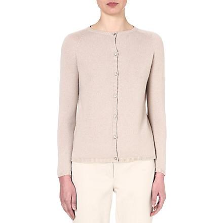S MAX MARA Panama cashmere cardigan (Ice