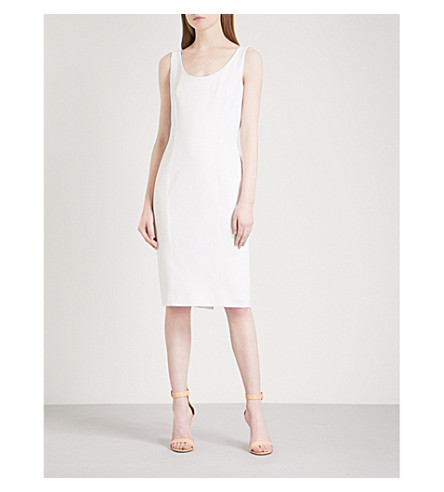 MAX MARA Panaria fitted stretch-wool dress (White