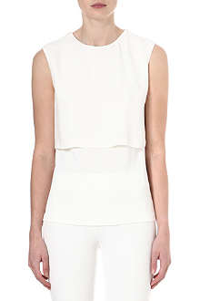SPORTMAX Sleeveless jersey panel top