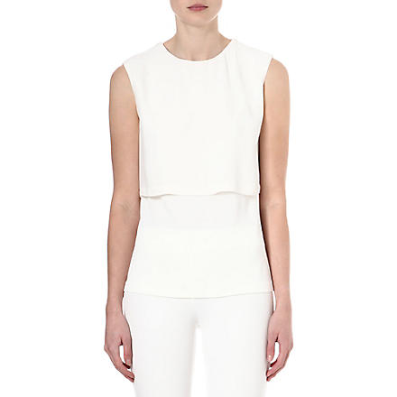 SPORTMAX Sleeveless jersey panel top (Ivory