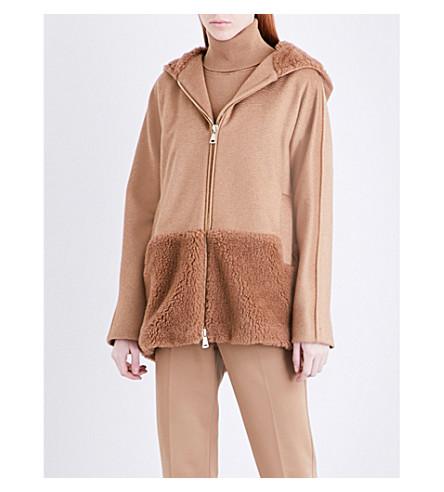 MAX MARA Pandoro hooded camel hair jacket (Camel