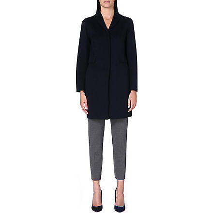 S MAX MARA Papaile wool and angora-blend coat (Navy