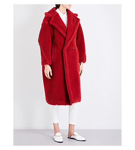 MAX MARA Pappino oversized camel hair and silk-blend coat (Red