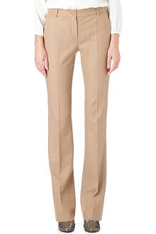 MAX MARA STUDIO Straight-leg wool trousers