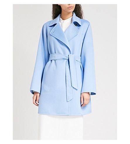 MAX MARA Parana wrap-front cashmere coat (Blue