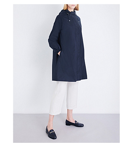 S MAX MARA Parkah embellished shell parka coat (Navy
