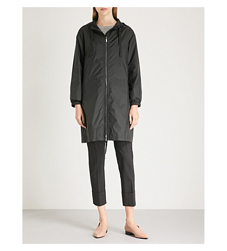 S MAX MARA Parka embellished shell parka coat (Black