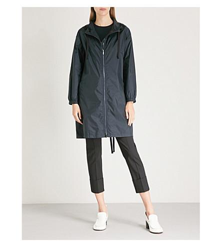 S MAX MARA Parka embellished shell parka coat (Navy