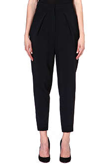 SPORTMAX Parsec tapered crepe trousers