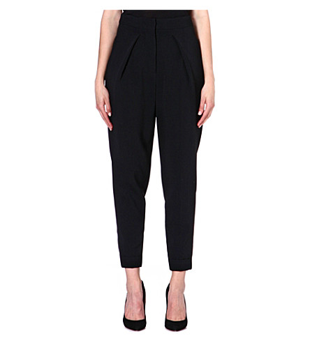SPORTMAX Parsec tapered crepe trousers (Black