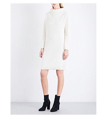 MAX MARA Paste wool and cashmere-blend jumper dress (Ivory