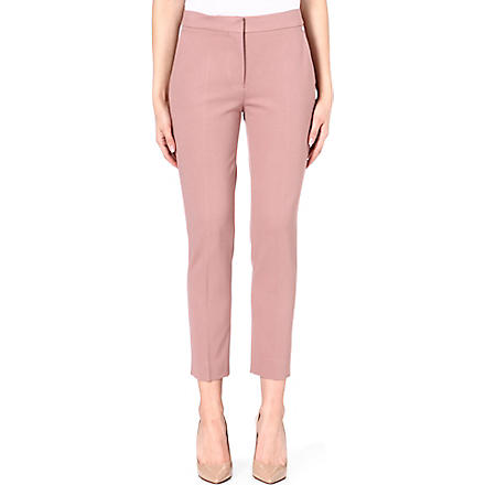 MAX MARA Cropped slim-fit trousers (Pink