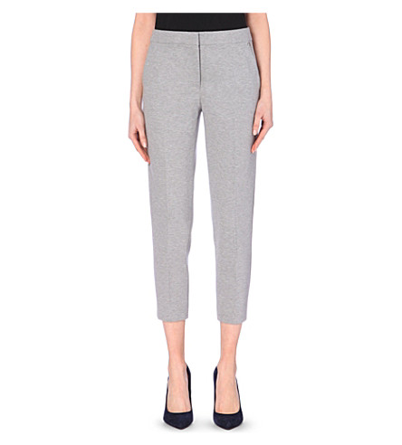 MAX MARA Pegno cropped tapered trousers (Grey