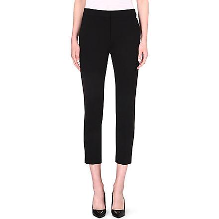 MAX MARA Tapered crepe trousers (Black
