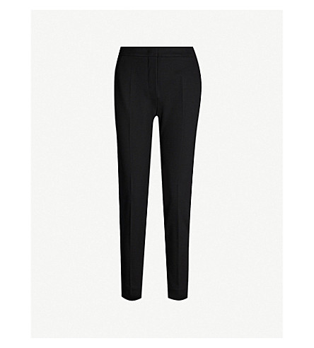 MAX MARA Pegno 瘦腿九分款裤子 (黑色
