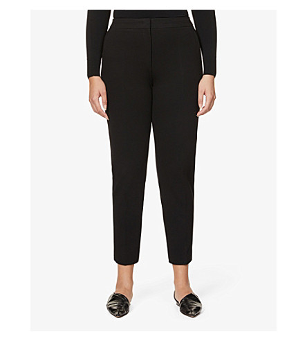 MAX MARA Pegno slim-leg cropped trousers (Black