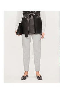 MAXMARA Pegno slim-leg cropped trousers