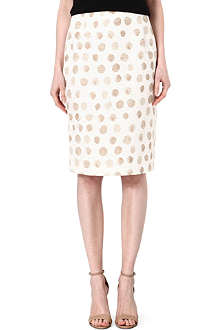 MAX MARA STUDIO Peirak spot-print pencil skirt