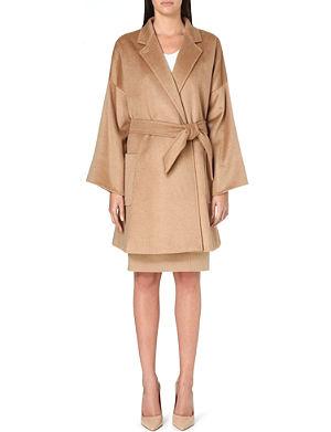 MAX MARA Pelago camel-hair wrap coat