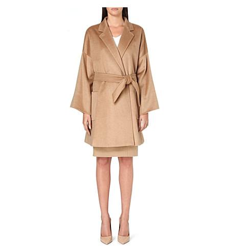 MAX MARA Pelago camel-hair wrap coat (Camel