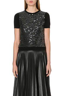 MAX MARA STUDIO Pepe sequin knitted jumper