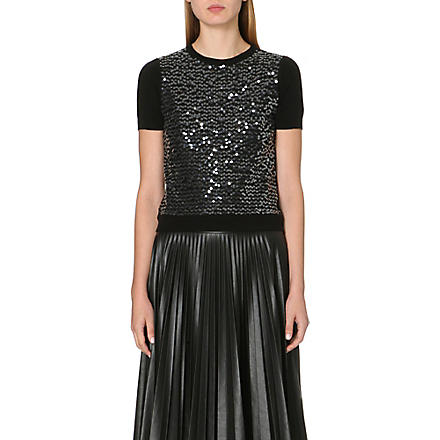 MAX MARA STUDIO Pepe sequin knitted jumper (Black
