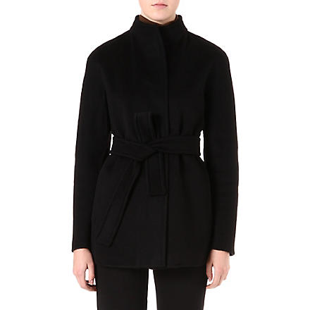 MAX MARA STUDIO Cashmere wrap jacket (Black