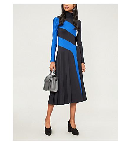 SPORTMAX Pepe colour-block stretch-knit dress (Midnight+blue
