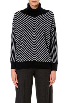 MAX MARA Chevron stripe roll neck jumper