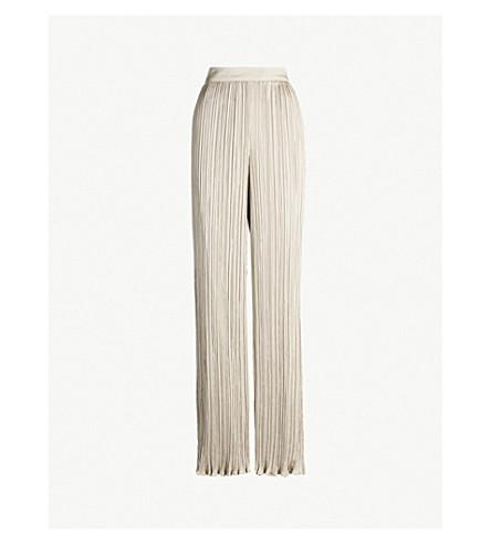 S MAX MARA Pergola pleated faux-leather skirt (Beige