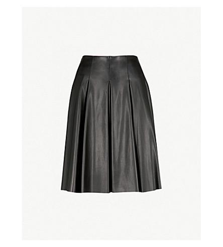 MAX MARA Pergola pleated faux-leather skirt (Black