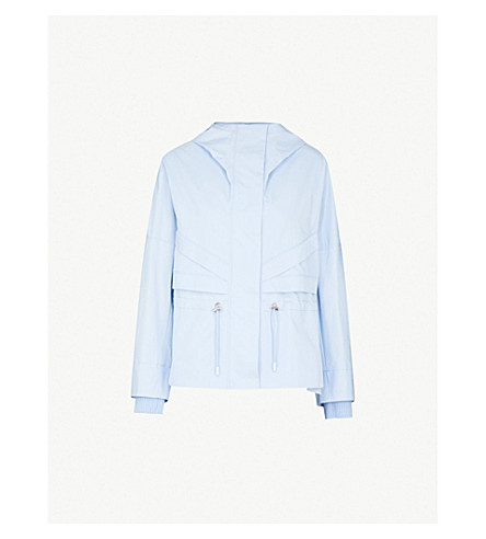 SPORTMAX Sportmax shell parka coat (Light blue