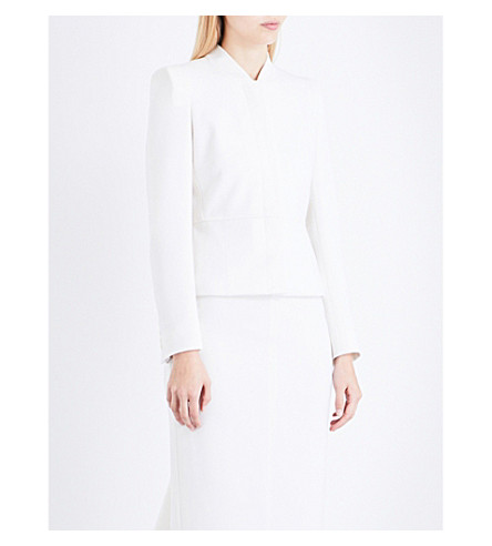 MAX MARA Petali single-breasted stretch-wool jacket (White
