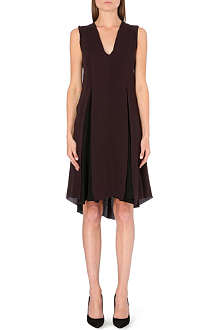 SPORTMAX Pilade pleated silk dress