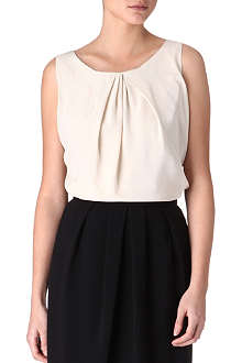 MAXMARA STUDIO Pioppo draped silk top