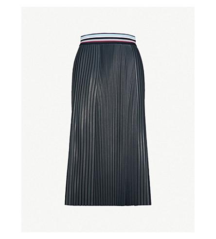 MAX MARA Pirenei faux-leather skirt (Midnightblue