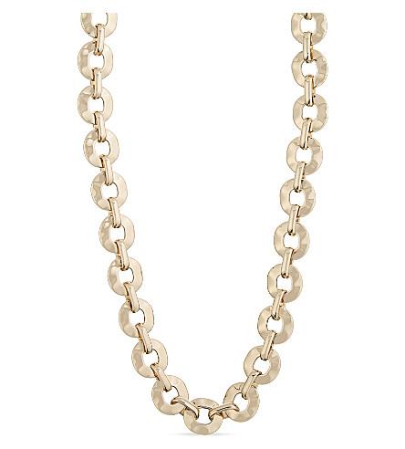 S MAX MARA Tobacco chain necklace (Gold