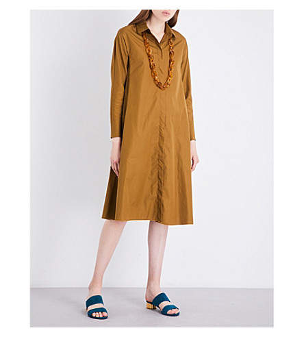 S MAX MARA Pittore cotton-poplin dress (Mustard
