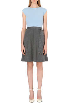 MAX MARA STUDIO Pola wool-blend dress