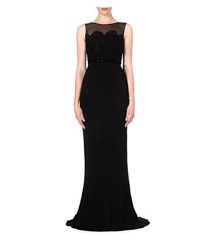 MAX MARA PIANOFORTE Sleeveless crepe gown (Black