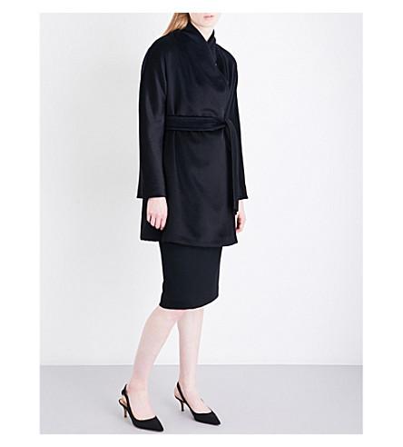 MAX MARA Ponte alpaca coat (Black