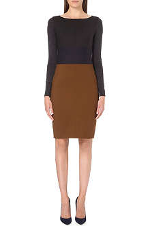 MAX MARA Colour-block wool dress