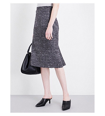 MAX MARA Primo wool-blend pencil skirt (Grey