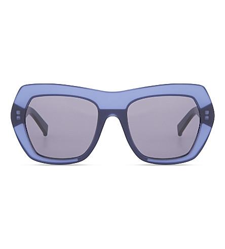 MAX MARA Prism III square-frame sunglasses (Havana
