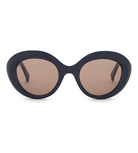 MAX MARA MM4923 round-frame sunglasses (Navy