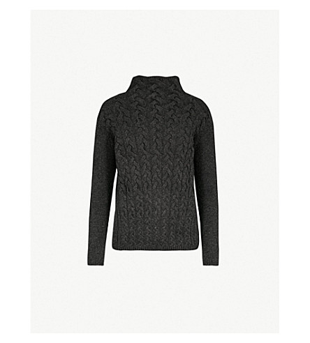 S MAX MARA 集会针织羊毛和羊绒混纺毛衣 (灰色